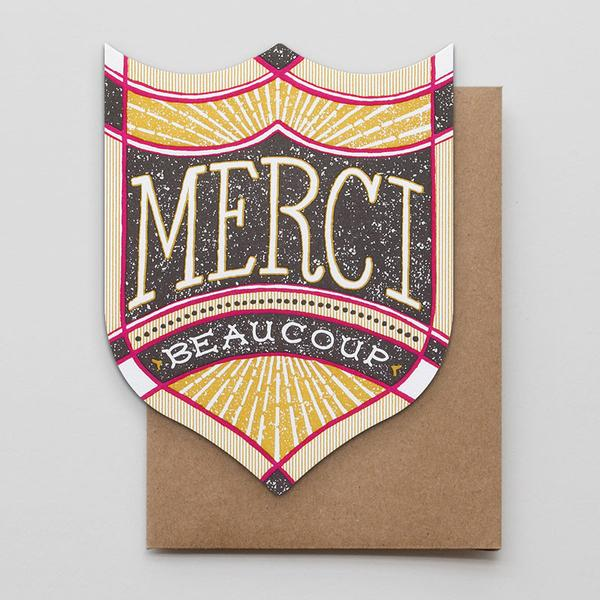 Merci Beaucoup Badge Card