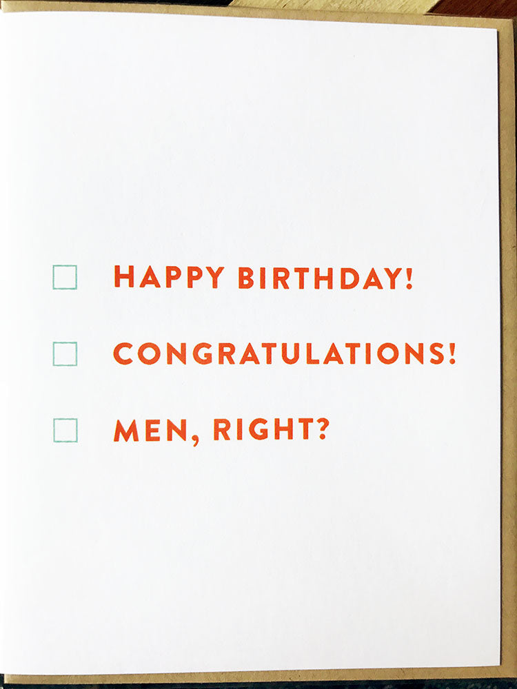 Men, Right? Card