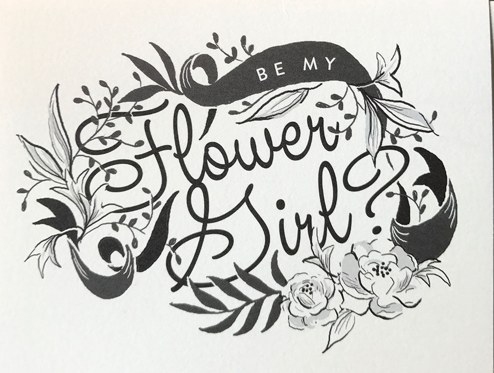 Be My Flower Girl Card