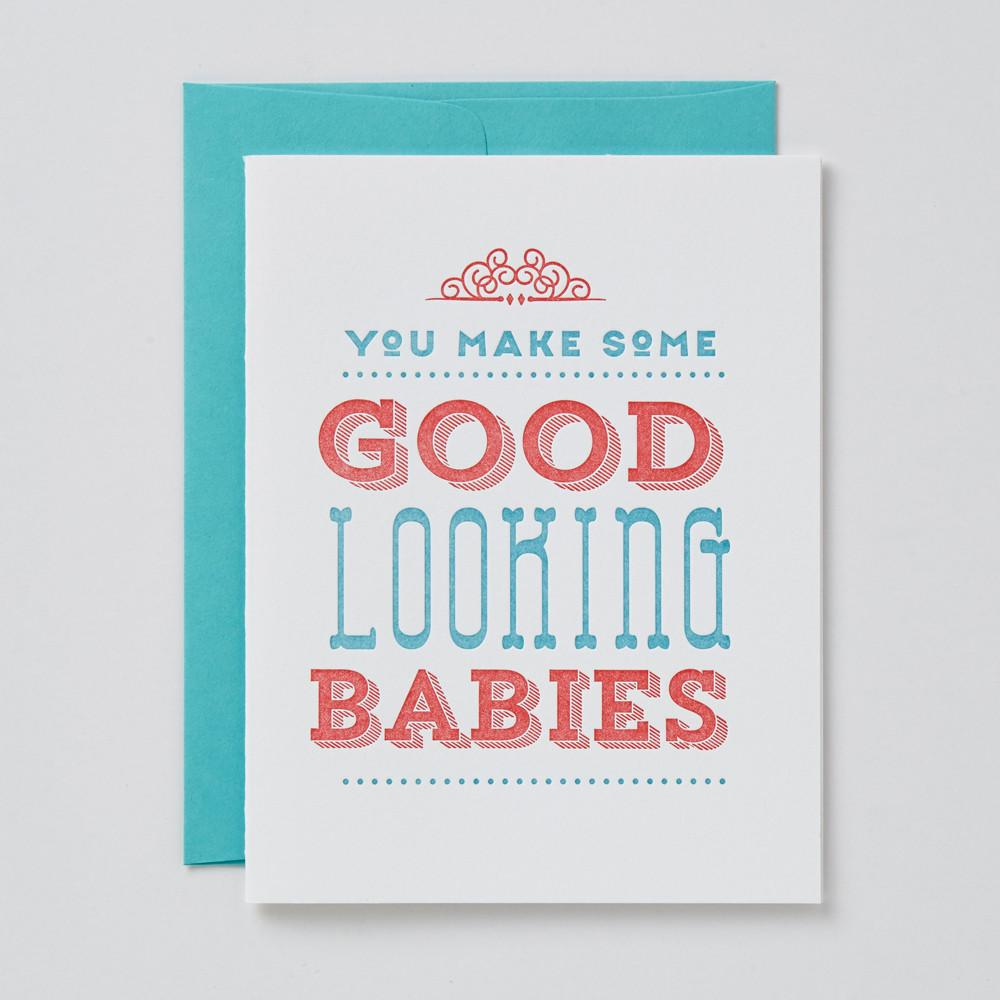 Good Looking Babies Card