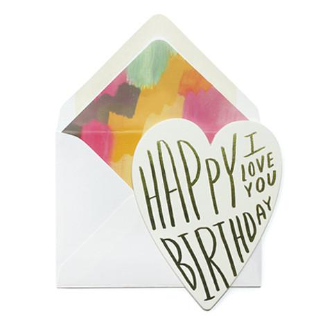 Birthday I Love You Card