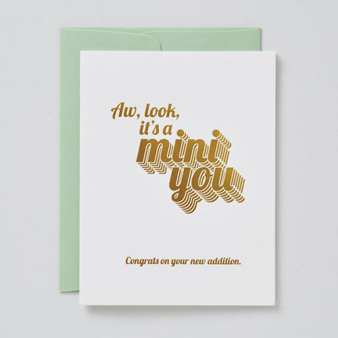 Mini You Baby Card