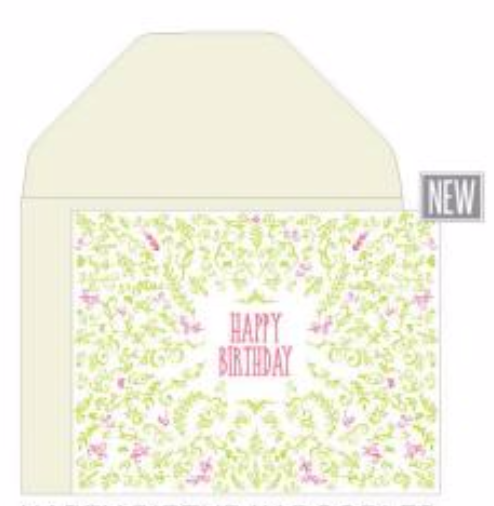 Happy Birthday Doodles Card