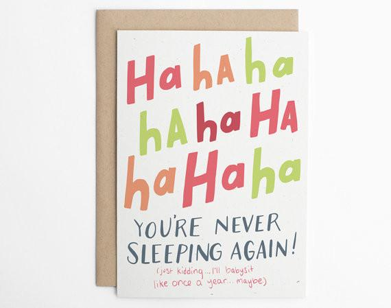 Ha ha ha! You're Never Sleeping Again! Card