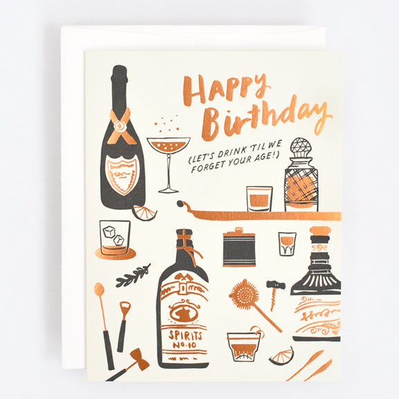 Drink To Forget Birthday Card