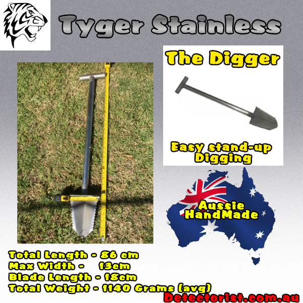 Tyger stainless stand up digging tool the digger