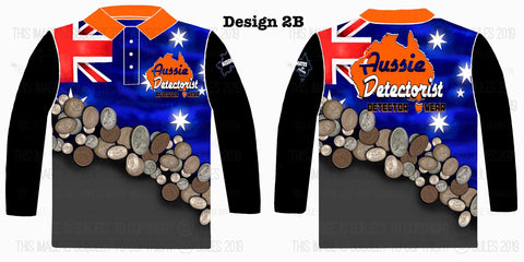 Image of Aussie Detectorist Detector Wear Design 2LS The True Blue Coin Shooter
