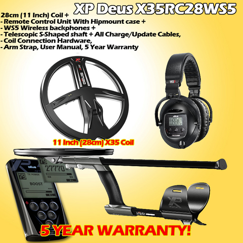 ALL Packages XP Deus Metal Detector True Lightweight wireless detecting For Gold, Coins and Relics