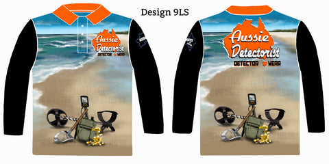 Aussie Detectorist Detector Wear Design 9LS The Beach Digger