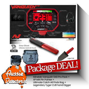 Beginner Metal Detector Package Deal, Everything to start Detecting NOW!