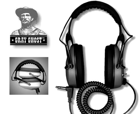 Gray Ghost Original Headphones for Coin, Relic and Jewelry Hunting, Upgrade your audio today.