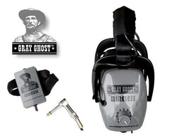 Gray Ghost WIRELESS Headphones for metal Detecting suit Minelab, Garrett and more