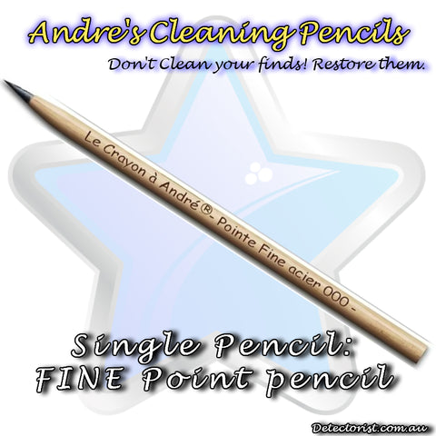 Image of Andre's Pencils, Don't Clean your metal detecting finds RESTORE Them!