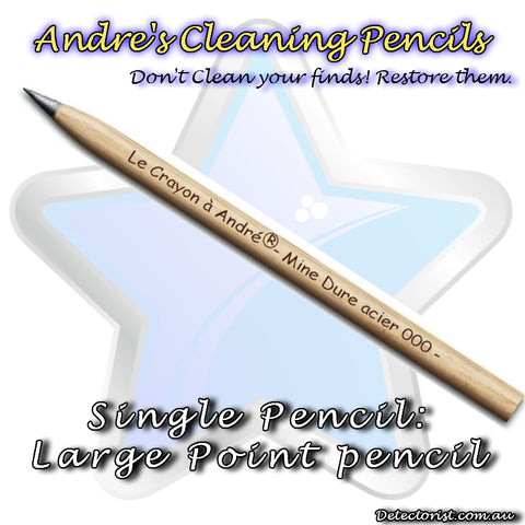 Andre's Pencils, Don't Clean your metal detecting finds RESTORE Them!