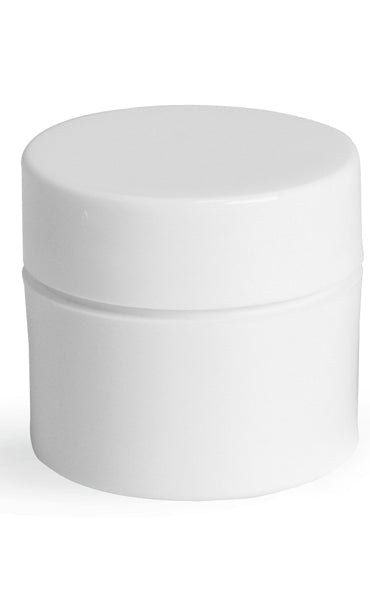 White plastic jar