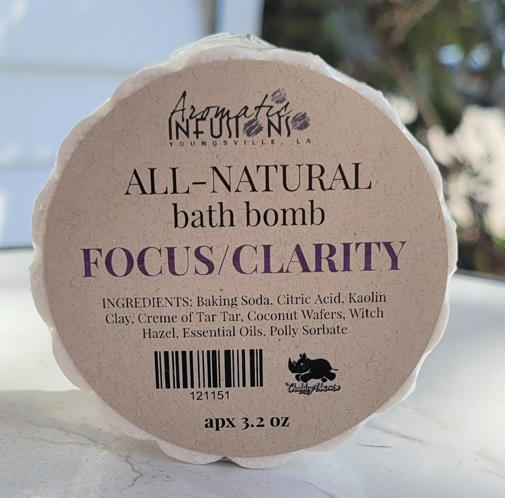 Focus and Clarity Aromatic Bath Bomb