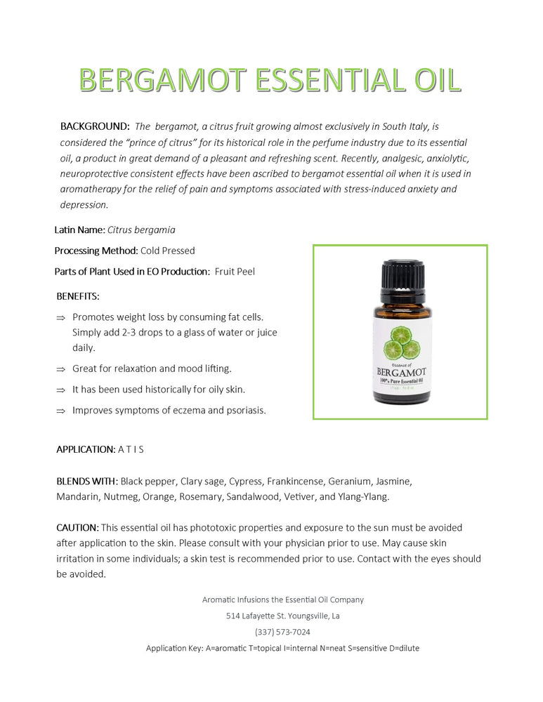 Bergamot Essential Oil 15ml