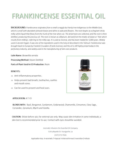 Frankincense Essential Oil 15ml - Aromatic Infusions