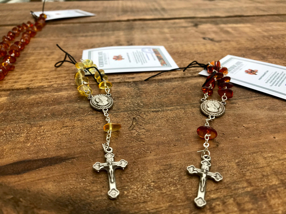 Load image into Gallery viewer, Mini Amber Rosary