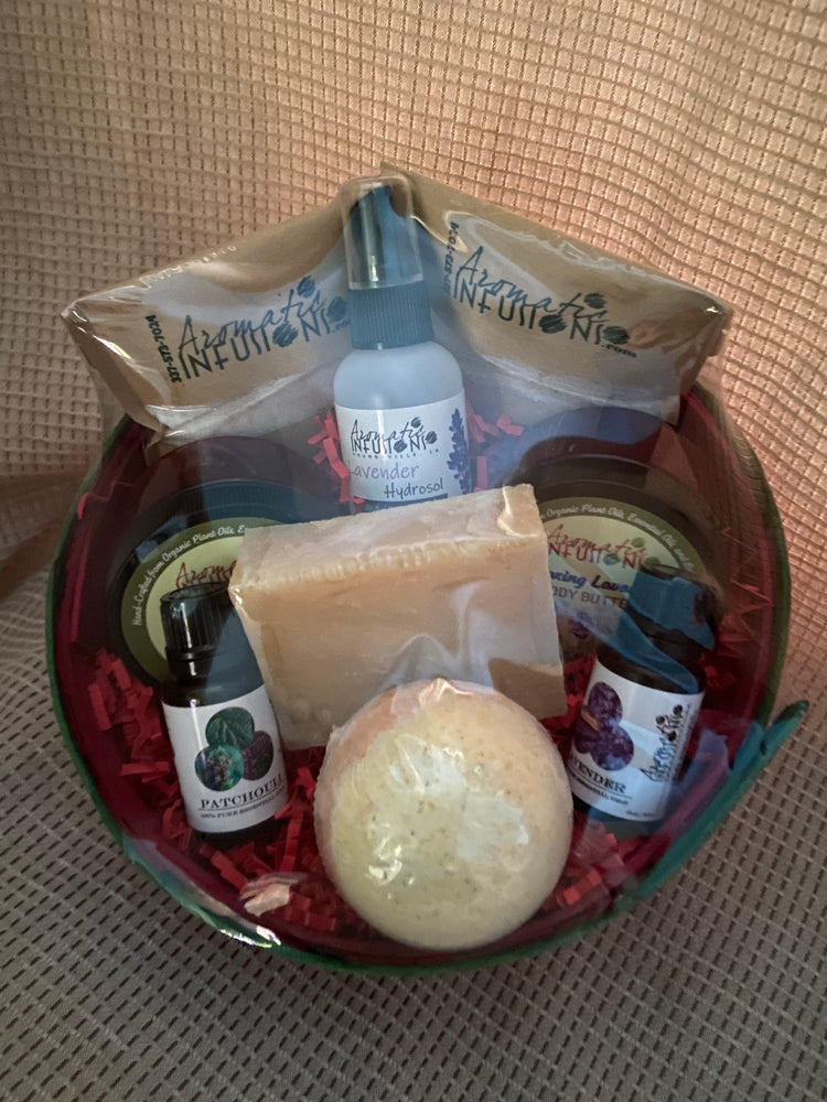 Load image into Gallery viewer, Lavender/Patchouli Gift Basket