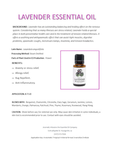 Lavender Essential Oil 15ml - Aromatic Infusions