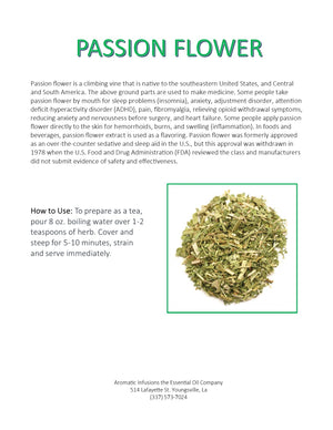 Passion Flower Herb Cut