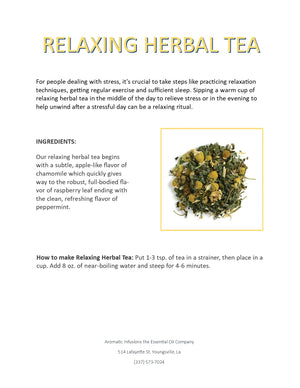 Load image into Gallery viewer, Relaxing Herbal Tea Blend OR