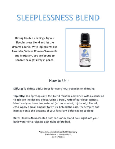 Sleeplessness Blend 15ml - Aromatic Infusions