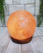 Himalayan Salt Sphere Salt Lamp 5""