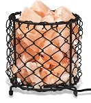 Natural Himalayan Salt Lamp with Salt Chips