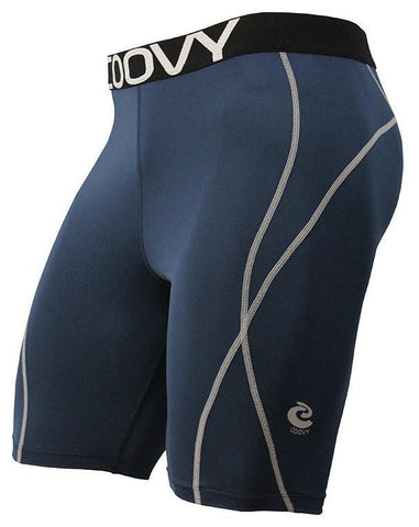 COOVY Men's Midweight Base Layer Shorts (navy)