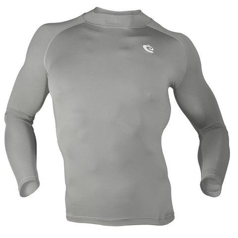 COOVY Men's Long Sleeve Lightweight Base Layer Top (gray)