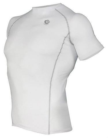 COOVY Men's Short Sleeve Lightweight Base Layer Top (white)