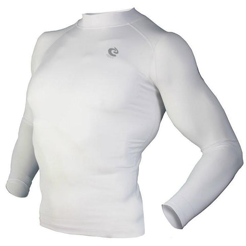 COOVY Men's Long Sleeve Lightweight Base Layer Top (white)