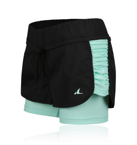 ATHLETE Women's Luna Double Layer Shorts, Style AP09 - Athlete Beyond - For Her - Bottoms - 1