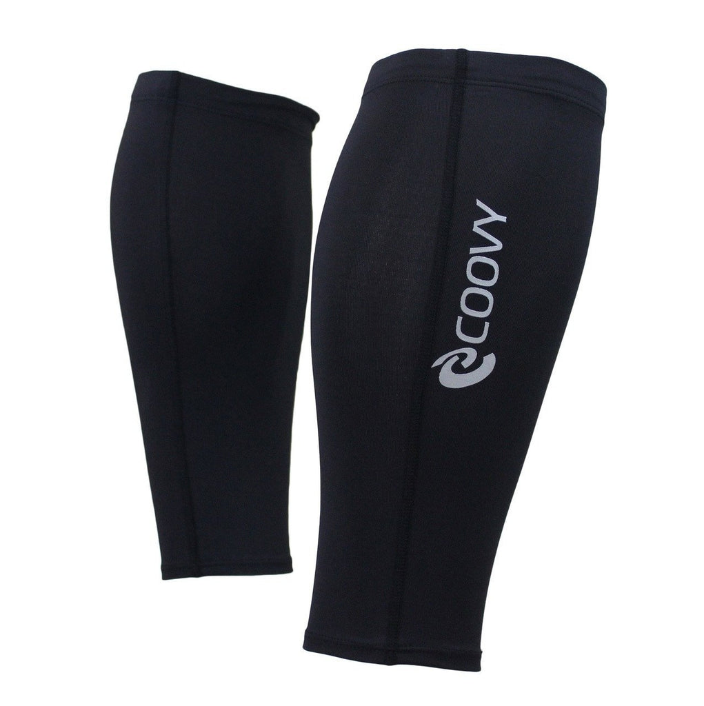 COOVY Men's Compression Calf Sleeve Guard (black)
