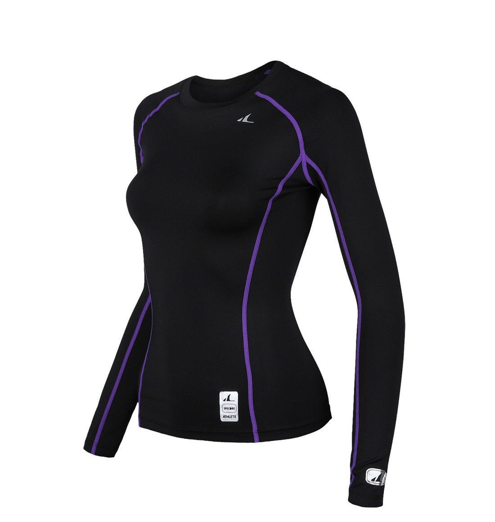 ATHLETE Women's Compression Rash Guard Long Sleeve Top Shirts, Style WLT01 - Athlete Beyond - For Her - Top - 1