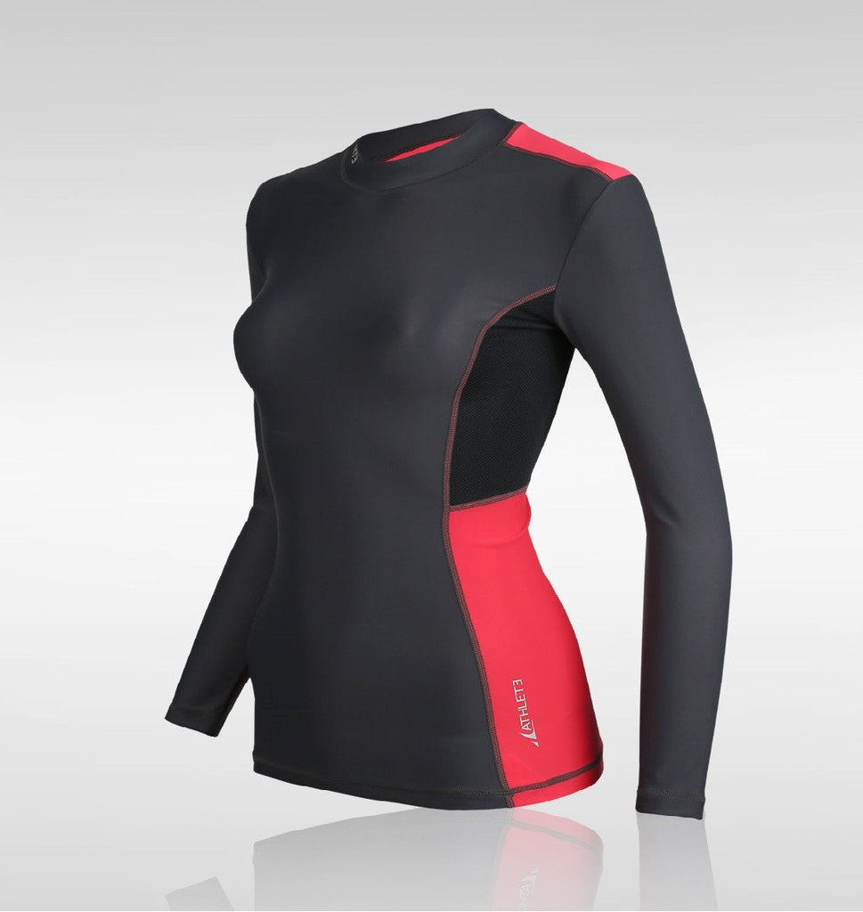 ATHLETE Women's Colorblock Compression Long Sleeve Rashguard Top, Style NS19 - Athlete Beyond - For Her - Top - 1