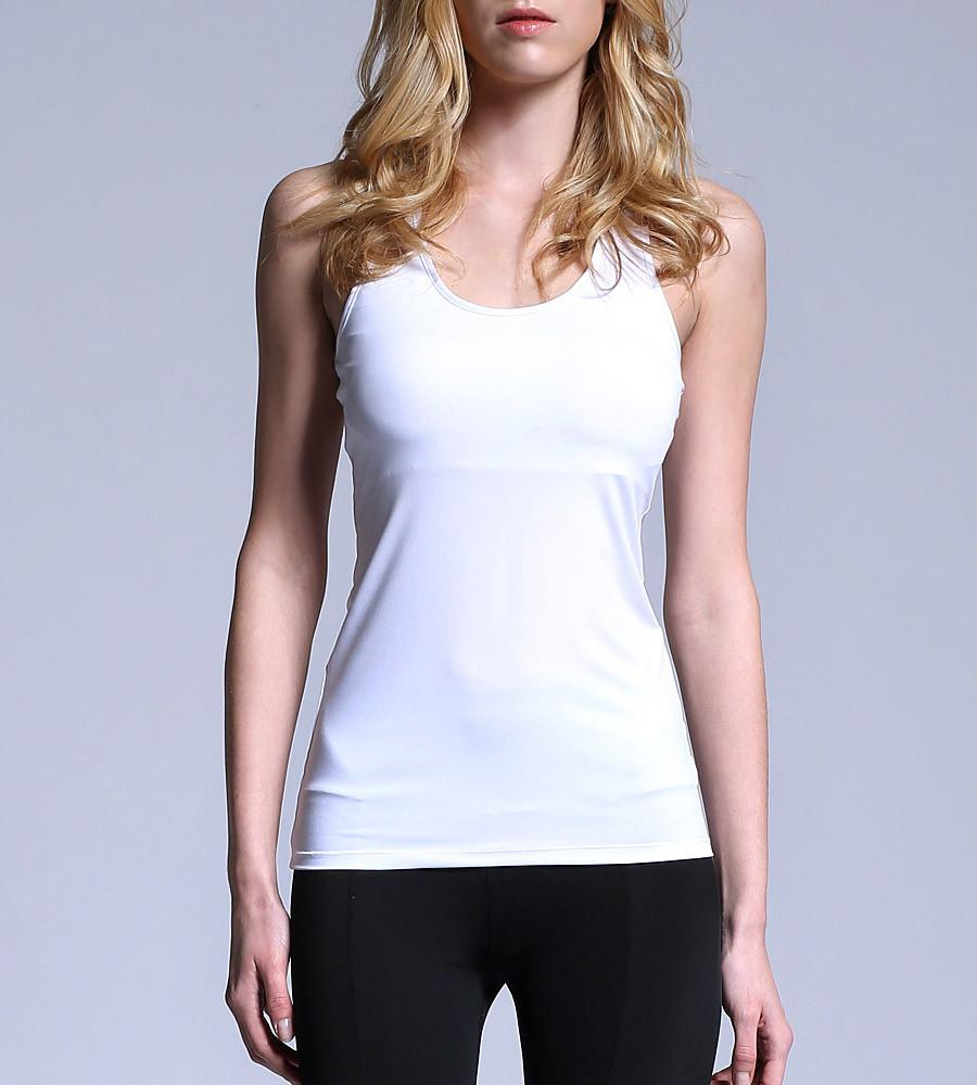 755642a892ed7c ... ATHLETE Women s Comfort Tank Top w  removable pads