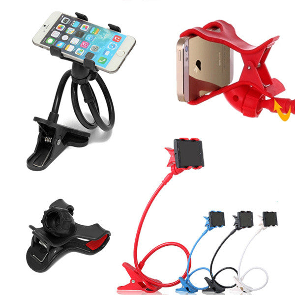 new style f18ed 4c5db 360 Degree 4 Colors Universal lazy bracket Kit Bed stand Desktop Car Stand  Mount Holder sucker for iphone 6 5 5S 6plus S5 S4 S3