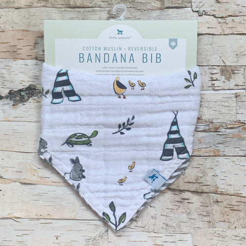 Forest Friends Reversible Bandana Bib
