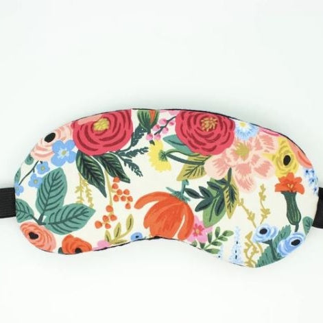 Eye Mask in Cream and Pink Floral