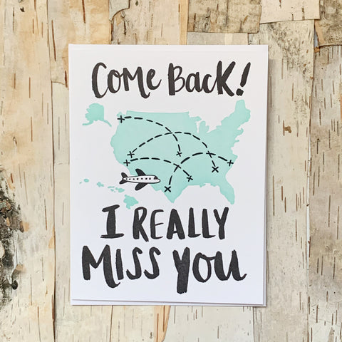 Come Back Card
