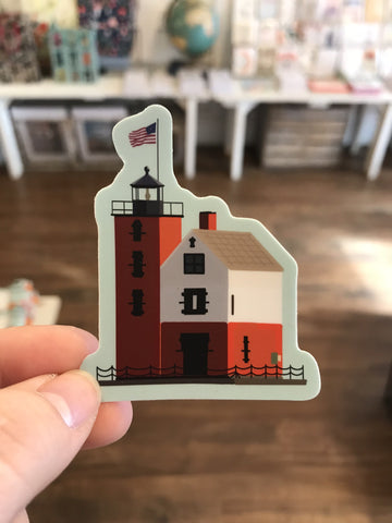 Round Island Lighthouse Sticker