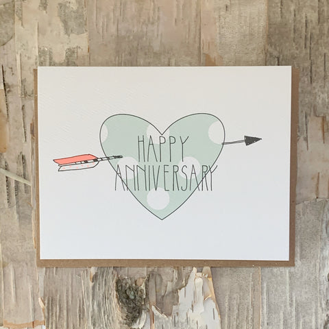 Happy Anniversary Heart Card Hartland Brooklyn