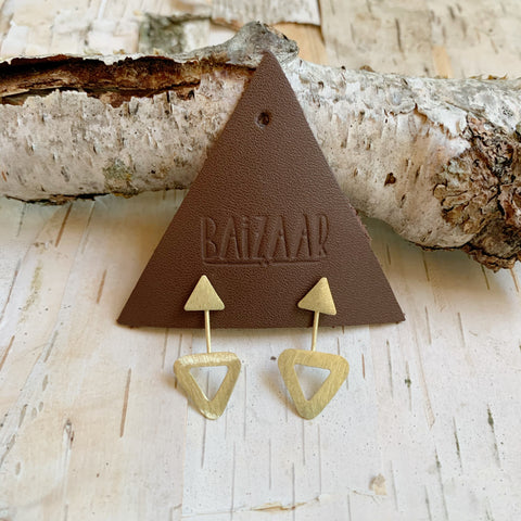 Brass Triangle Ear Jacket