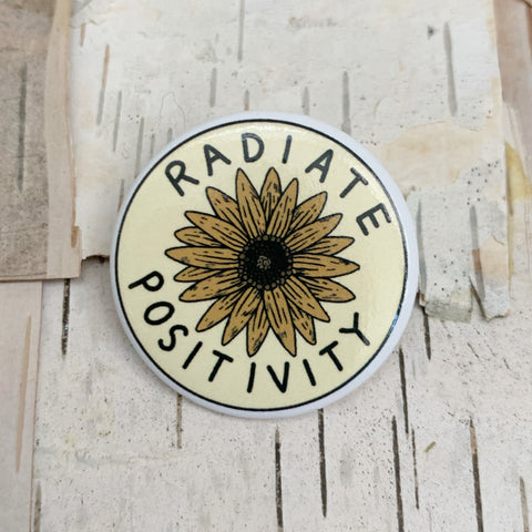 Radiate Positivity Sun Button