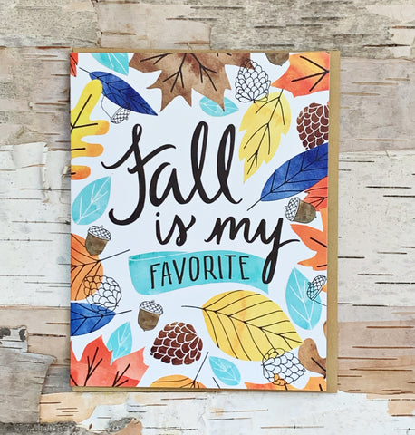 Fall Is My Favorite Card