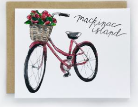 Mackinac Pink Bike Single Card