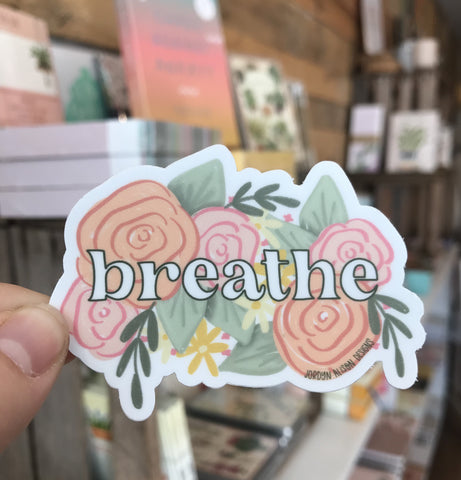 Breathe Floral Sticker Jordyn